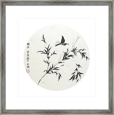 Breeze Of Spring - Round Framed Print