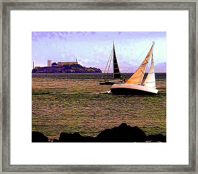 Breezin' On The Bay Framed Print