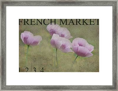 Breezy Anemones Framed Print by Rebecca Cozart