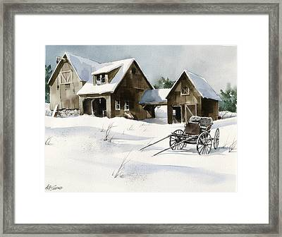 Breezy Barns 'n Buggy Framed Print by Art Scholz