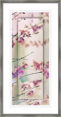 Breezy Blossom Panel Framed Print