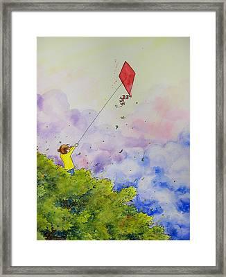 Breezy Day Happy Day Framed Print by Jaymi Krystowiak