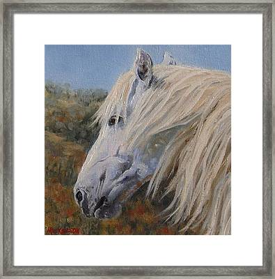 Breezy Framed Print by Debra Mickelson