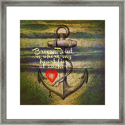 Breezy Point Anchor Framed Print by Brandi Fitzgerald