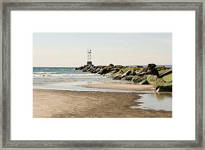Breezy Point Jetty With Pools Framed Print