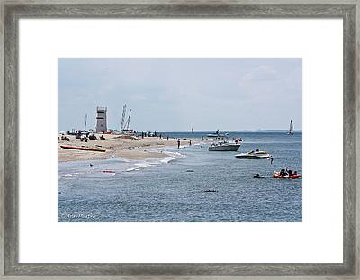 Framed Print featuring the photograph Breezy Point Lighthouse by Ann Murphy
