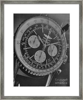 Breitling Chronometer Framed Print