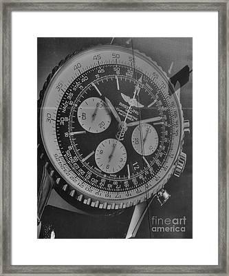 Breitling Chronometer Framed Print by David Bearden