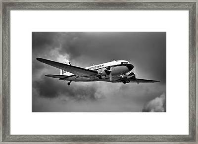 Breitling Dc-3 Framed Print by Ian Merton