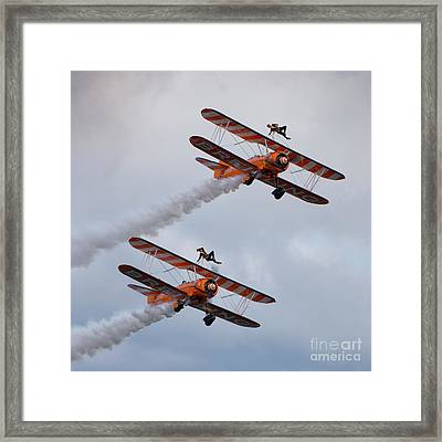 Breitling Wing Walkers Framed Print by Nichola Denny