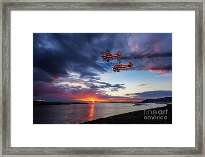 Breitling Wingwalkers Sunset Framed Print