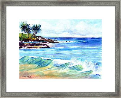 Brennecke's Beach Framed Print