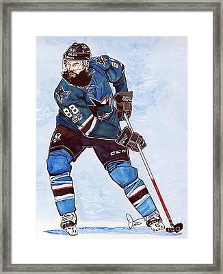 Brent Burns Framed Print by Dave Olsen