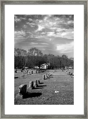 Brentway-cemetery Framed Print by Curtis J Neeley Jr