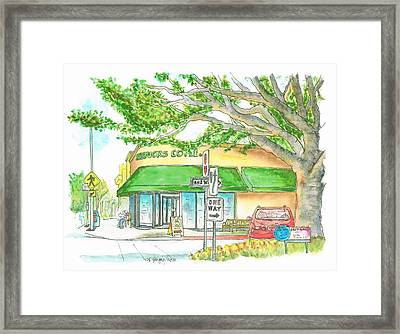 Starbucks Coffee In Brentwood, California Framed Print