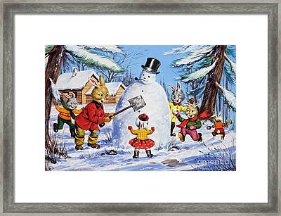 Brer Rabbit From Once Upon A Time Framed Print by Virginio Livraghi