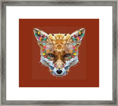 Brerr Fox T-shirt Framed Print by Herb Strobino