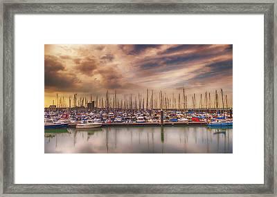 Breskens Marina Framed Print by Wim Lanclus