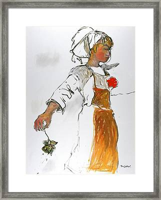 Breton Girl Framed Print by Mykul Anjelo
