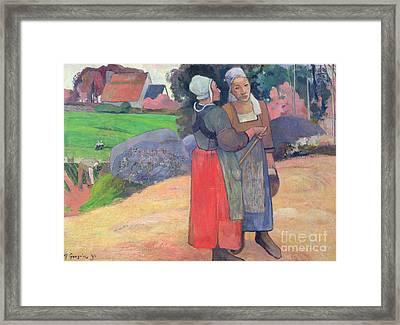 Breton Peasants Framed Print
