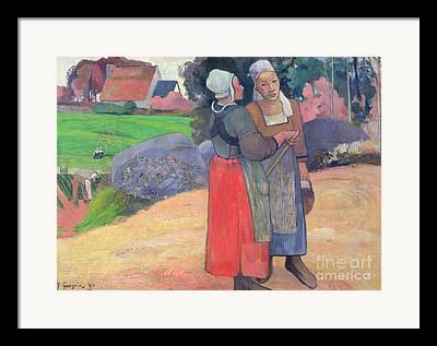 Breton Peasants Framed Prints
