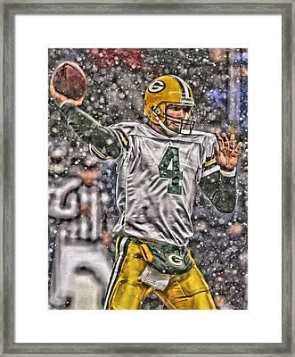 Brett Favre Green Bay Packers 2 Framed Print