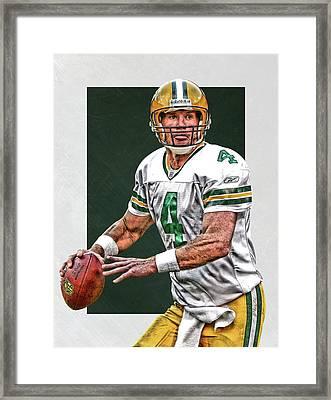 Brett Favre Green Bay Packers Art Framed Print
