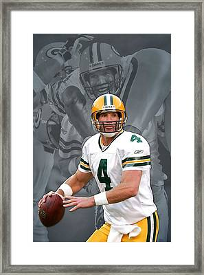 Brett Favre Green Bay Packers Framed Print