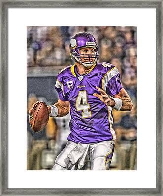 Brett Favre Minnesota Vikings Framed Print