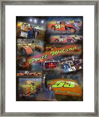 Brett The Jet Framed Print