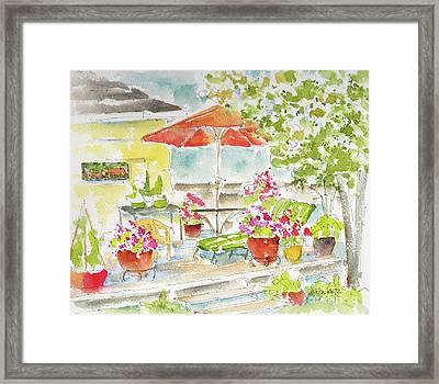Brett's Backyard Framed Print
