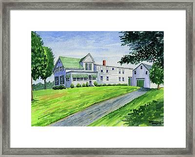 Brewer Family Farm, Augusta Maine Framed Print
