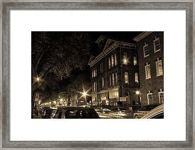 Framed Print featuring the photograph Market Street by Robert Geary