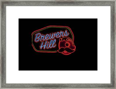 Brewers Hill Neon Framed Print