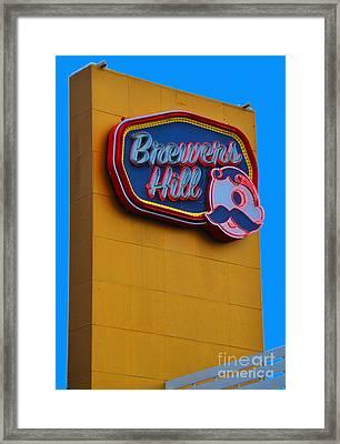 Brewers Hill Retro Framed Print