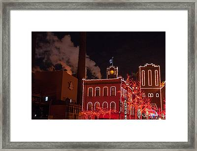 Brewery Lights Framed Print
