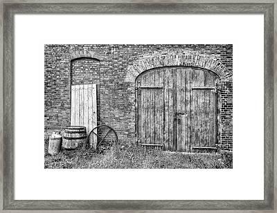 Brewhouse Door Framed Print