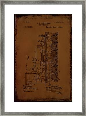 Brewing Beer Patent Drawing 1a Framed Print