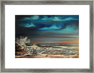 Brewing Storm Framed Print by James Higgins
