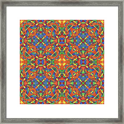 Brexit - Multi Pattern Framed Print