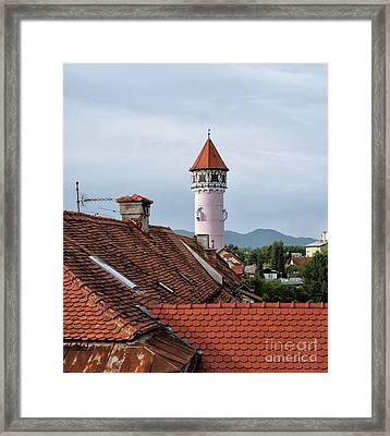 Brezica Rooftops Framed Print