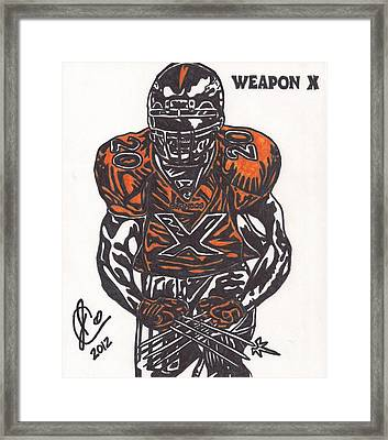 Brian Dawkins Framed Print by Jeremiah Colley