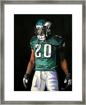 Brian Dawkins Weapon X - Philadelphia Eagles Framed Print by Michael  Pattison
