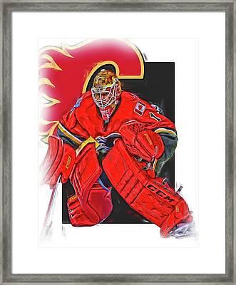 Brian Elliott Calgary Flames Oil Art Framed Print