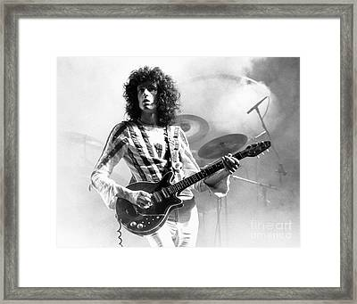 Brian May Of Queen 1975 Framed Print by Chris Walter