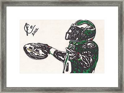 Brian Westbrook 2 Framed Print by Jeremiah Colley