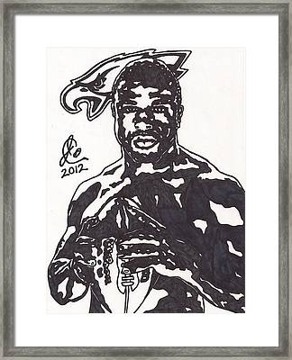 Framed Print featuring the drawing Brian Westbrook by Jeremiah Colley