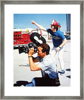Brian Wilson Of The Beach Boys Directs The Good Vibrations Promo Film Framed Print by The Titanic Project