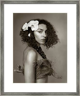 Island Girl Framed Print by Audrey  Christopher Bunn