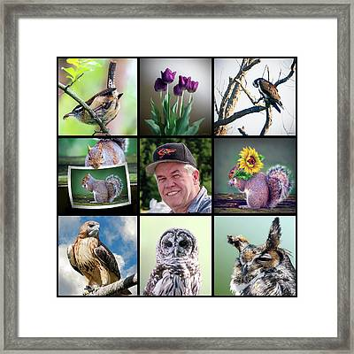 Brian's Collage 1 Framed Print